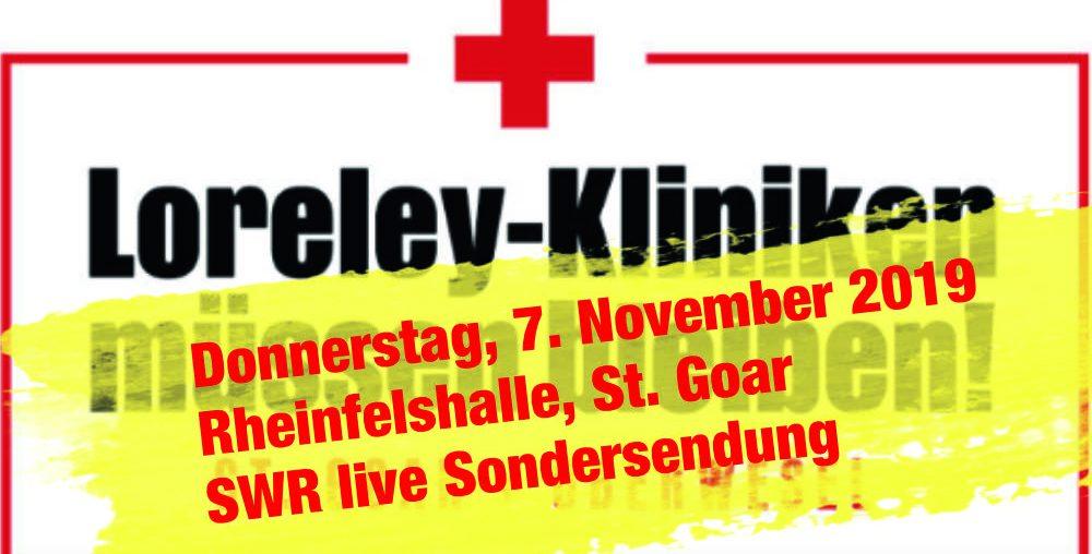 Rheinfelshalle St. Goar: SWR live zu Loreley Kliniken